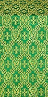 Seraphim metallic brocade (green/gold)