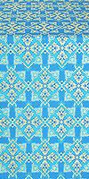 Smolensk silk (rayon brocade) (blue/gold)