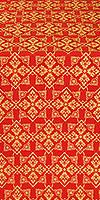 Smolensk silk (rayon brocade) (red/gold)