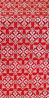 Smolensk silk (rayon brocade) (red/silver)