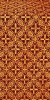 Ostrozh silk (rayon brocade) (claret/gold)