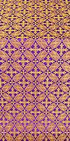 Ostrozh silk (rayon brocade) (violet/gold)