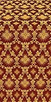 Loza silk (rayon brocade) (claret/gold)