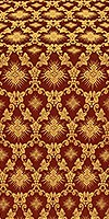 Loza metallic brocade (claret/gold)