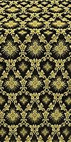Loza silk (rayon brocade) (black/gold)