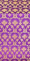 Loza silk (rayon brocade) (violet/gold)