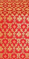 Loza metallic brocade (red/gold)