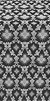 Loza silk (rayon brocade) (black/silver)