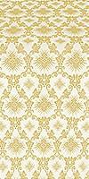 Loza metallic brocade (white/gold)