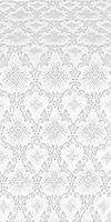 Loza silk (rayon brocade) (white/silver)