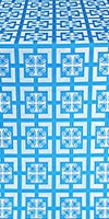 Cappadocia silk (rayon brocade) (blue/silver)