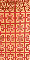 Cappadocia silk (rayon brocade) (red/gold)
