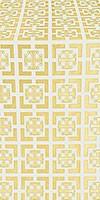 Cappadocia metallic brocade (white/gold)