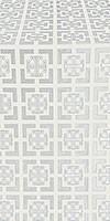 Cappadocia silk (rayon brocade) (white/silver)