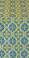 Nikolaev silk (rayon brocade) (blue/gold)