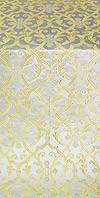 Forged Cross metallic brocade (white/gold)