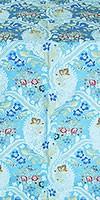 Majestic Garden metallic brocade (blue/silver)