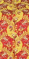 Majestic Garden metallic brocade (red/gold)