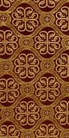 Floral Cross silk (rayon brocade) (claret/gold)