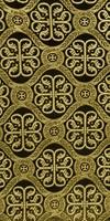Floral Cross silk (rayon brocade) (black/gold)