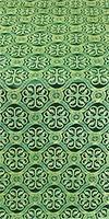 Floral Cross silk (rayon brocade) (green/gold)
