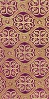 Floral Cross silk (rayon brocade) (violet/gold)