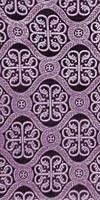 Floral Cross metallic brocade (violet/silver)
