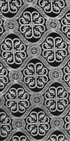 Floral Cross silk (rayon brocade) (black/silver)