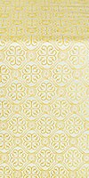 Floral Cross silk (rayon brocade) (white/gold)