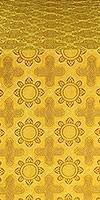 Kazan' metallic brocade (yellow/gold with claret outline)