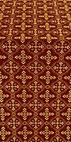 Lyubava silk (rayon brocade) (claret/gold)