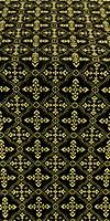 Lyubava silk (rayon brocade) (black/gold)