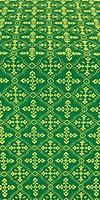 Lyubava metallic brocade (green/gold)