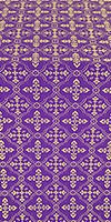 Lyubava silk (rayon brocade) (violet/gold)