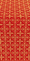 Lyubava silk (rayon brocade) (red/gold)