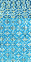 Lavra silk (rayon brocade) (blue/gold)