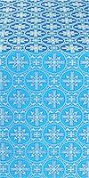 Lavra silk (rayon brocade) (blue/silver)