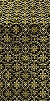 Lavra silk (rayon brocade) (black/gold)