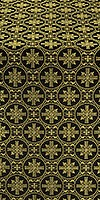 Lavra metallic brocade (black/gold)