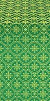 Lavra silk (rayon brocade) (green/gold)