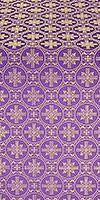 Lavra silk (rayon brocade) (violet/gold)