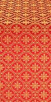 Lavra silk (rayon brocade) (red/gold)