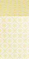 Lavra silk (rayon brocade) (white/gold)