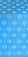 Russian Eagle metallic brocade (blue/gold)