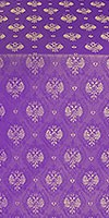 Russian Eagle metallic brocade (violet/gold)