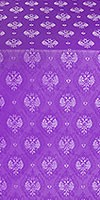 Russian Eagle metallic brocade (violet/silver)