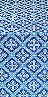 Canon silk (rayon brocade) (blue/silver)