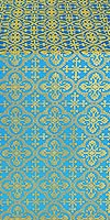 Elizabeth silk (rayon brocade) (blue/gold)