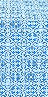 Elizabeth silk (rayon brocade) (blue/silver)