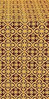 Elizabeth silk (rayon brocade) (claret/gold)